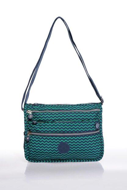 Smart Bags Smb1128-0066 Lacivert/yeşil Kadın Çapraz Çanta