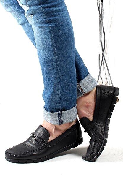 Fast Step Hakiki Deri Siyah Erkek Loafer Ayakkabı 783ma44duz