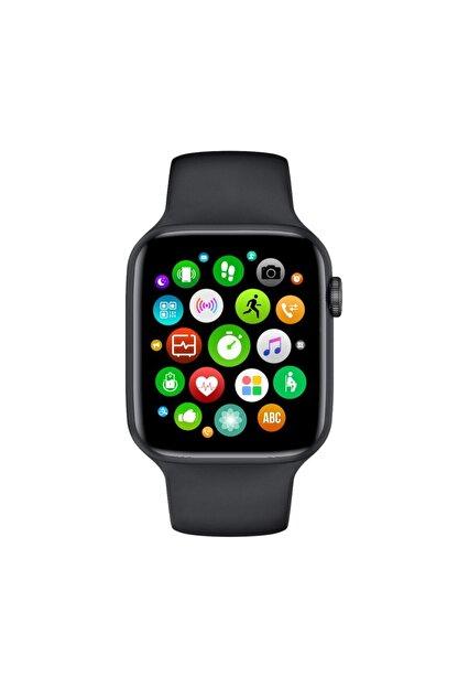 CRDKC Unisex Siyah Ateş Ve Kalp Hızı Ölçer Akıllı Saat W26-watch 6