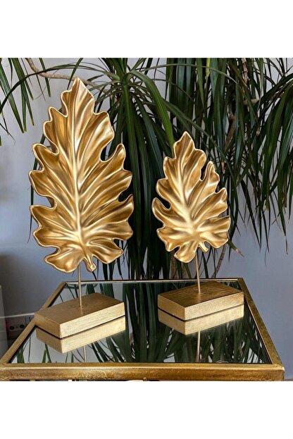Arthome 2'li Şık Modern Gold Çınar Yaprak