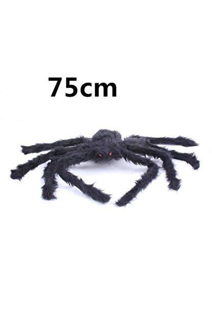 Samur Siyah Renk Tüylü Şekil Verilebilir Halloween Mega Örümcek 75 Cm