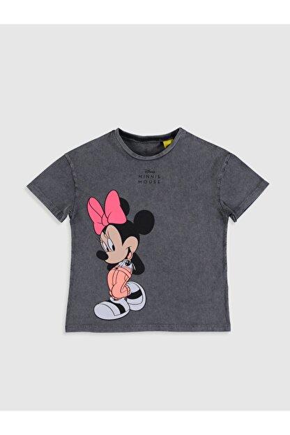 LC Waikiki Minnie Mouse Kız Çocuk Antrasit Hhy T-Shirt