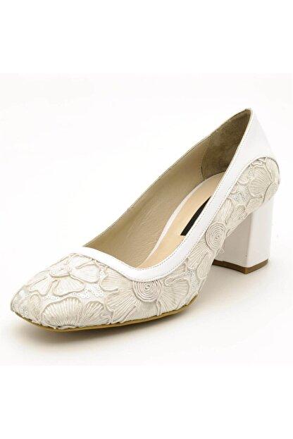 İriadam Kadın Beyaz Büyük Numara Ayakkabı 1924
