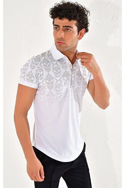 Efor Ts 758 Slim Fit Beyaz Spor T-shirt