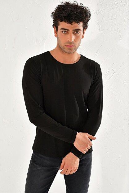 Efor Ts 754 Slim Fit Siyah Spor T-shirt