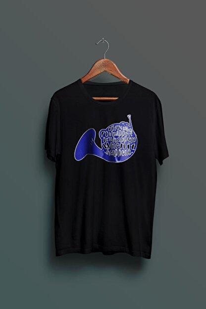 Nkys Moda Himym Mavi Korna Baskılı Unisex Tshirt