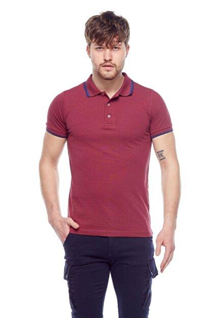 Tena Moda Erkek Vişne Polo Yaka Tişört