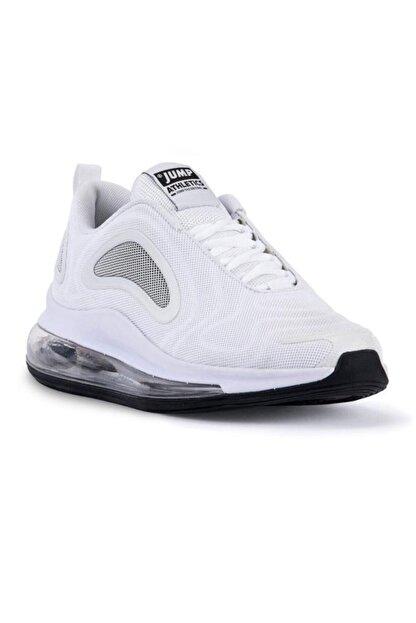 Jump 24660 Beyaz - Siyah Erkek Air Spor Ayakkabı