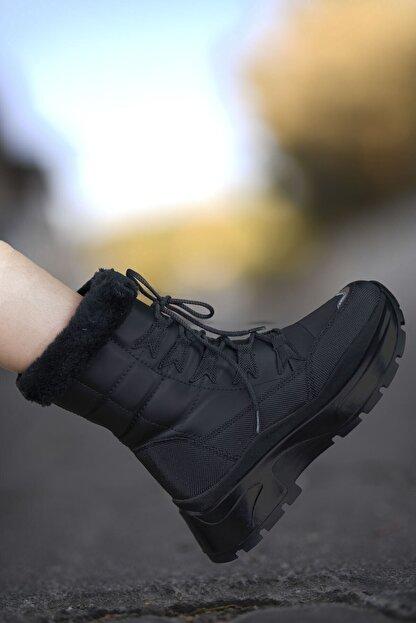 Riccon Siyah Siyah Kadın Kar Botu 00127455