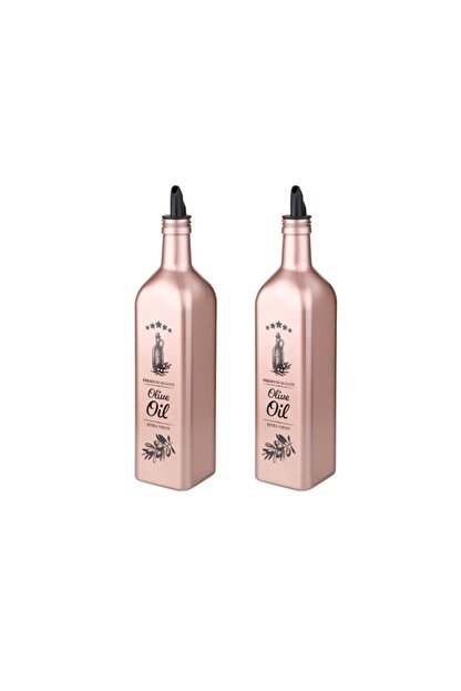 SELKA MUTFAK Selka 2 Li 750 Cc. Renklı Premıum Olive Baskılı Yağlık & Sirkelik
