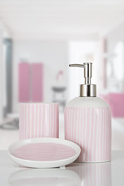 İrya Lili 3 Parça Banyo Seti Pembe