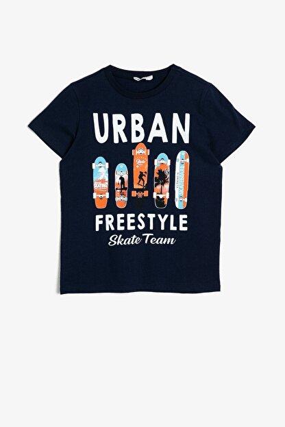 Koton Erkek Çocuk Koton Yazılı Baskılı T-shirt 0ykb16045ok