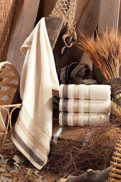 Binnur Home Natural 50x90 Cm 4'lü Antibakteriyel El Ve Yüz Havlusu