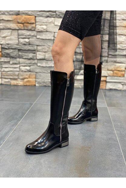 DİVA Siyah Rugan Ripos Günlük Çizme