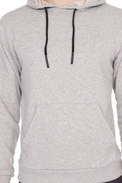 Aslans Erkek Kapüşonlu Kanguru Cepli Uzun Kollu Sweatshirt