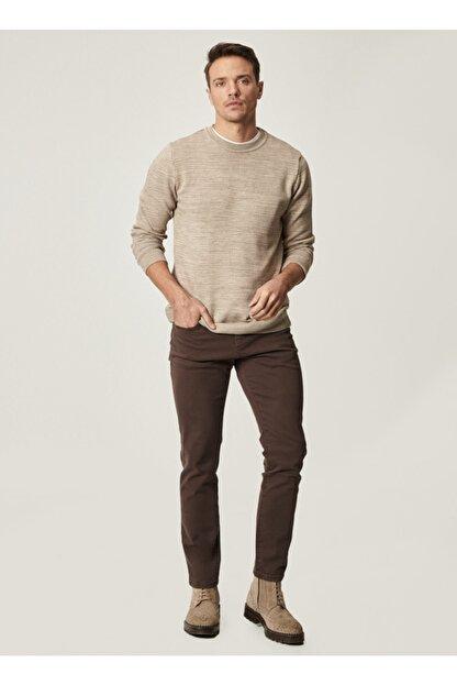 Altınyıldız Classics Erkek Kahverengi 360 Derece Her Yöne Esneyen Rahat Slim Fit Pantolon