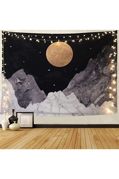 Trendiz Ay Işığı Siyah Duvar Halısı W20002
