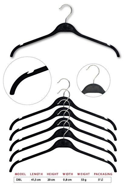 Tena Moda Unisex Siyah Dolgulu Kıyafet Elbise Gömlek Askısı 5 Adet