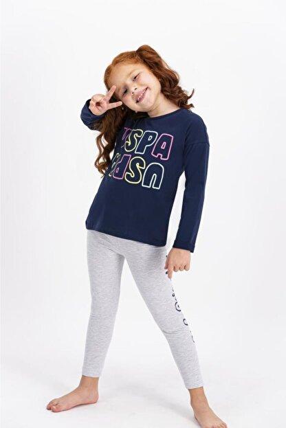 US Polo Assn Lisanslı Kız Çocuk Tayt Takım