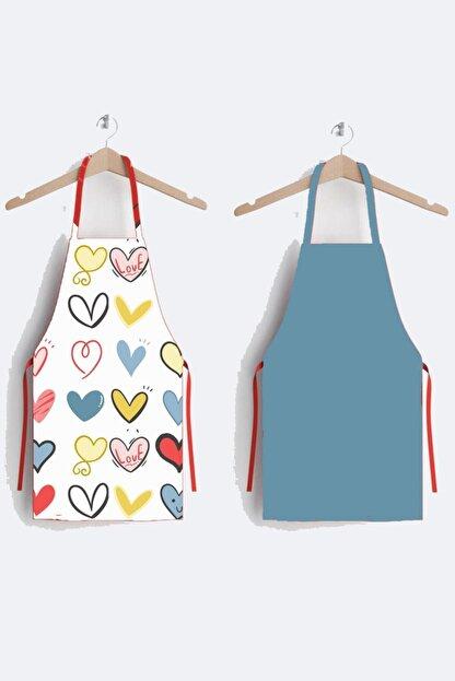 AYSHOME Kalpli Özel Tasarım 2 Li Mutfak Önlüğü