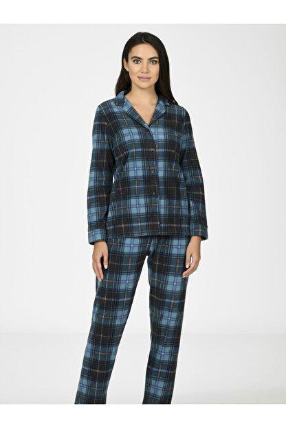 Nbb Ekose Polar Kadın Pijama Takımı 67020