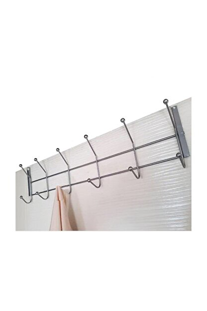 Vip Home Concept Kapı Arkası Askısı 12 Kancalı Metal Askı 2 Adet