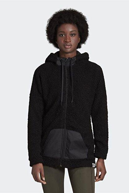 adidas Kadın Siyah Günlük Kapüşonlu Eşofman Üstü W Bb Hd Tt Gd3825