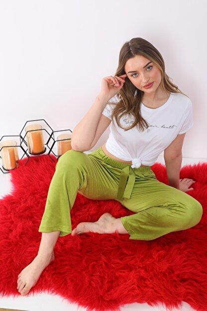 Arvin Kadın Kadife F. Yeşil Pijama Altı