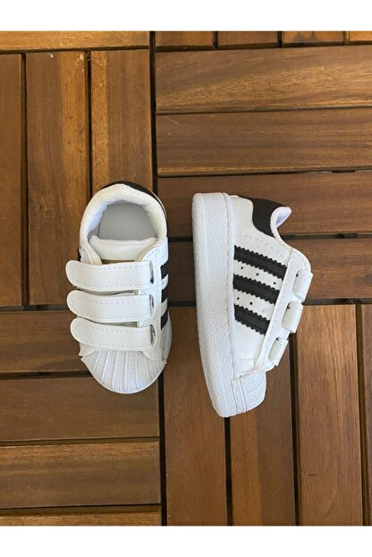 MOMSTAR Şeritli Çocuk Spor Ayakkabı Beyaz