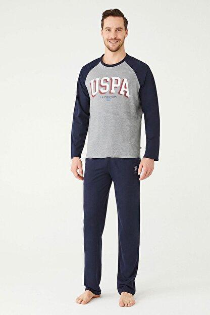US Polo Assn Erkek Antrasit Melanj Ev Giyim