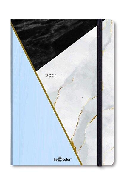 Le Color Mermer 2021 Haftalık Ajanda Stıckerlı 15x21