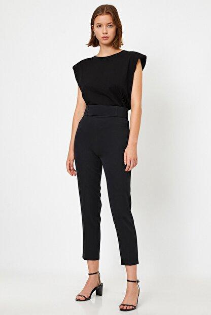 Koton Kadın Yüksek Belli Cigarette Siyah Pantolon 1kak43723ew