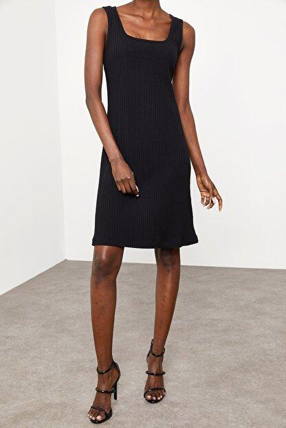 Xena Kadın Siyah Fitilli Elbise 1KZK6-11610-02