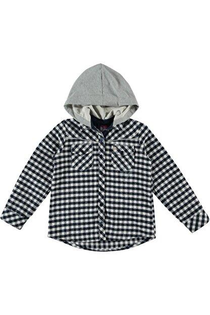 Timo Kız Çocuk Siyah Piti Kareli Kapüşonlu Gömlek 150297620