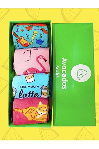Avocadossocks 4 Lü Karışık Çorap Kutusu