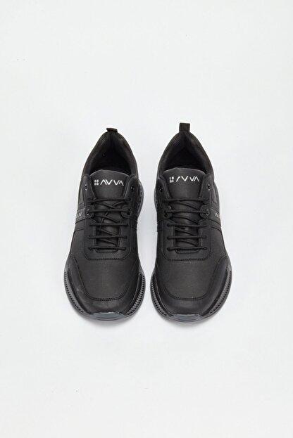 Avva Erkek Siyah Spor Ayakkabı A02y8016
