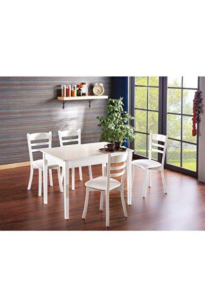 Ater Mobilya Wood Beyaz Mutfak Masası (Sadece Masa)