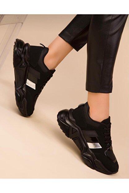 ZERBANOZ Siyah Spor Ayakkabı