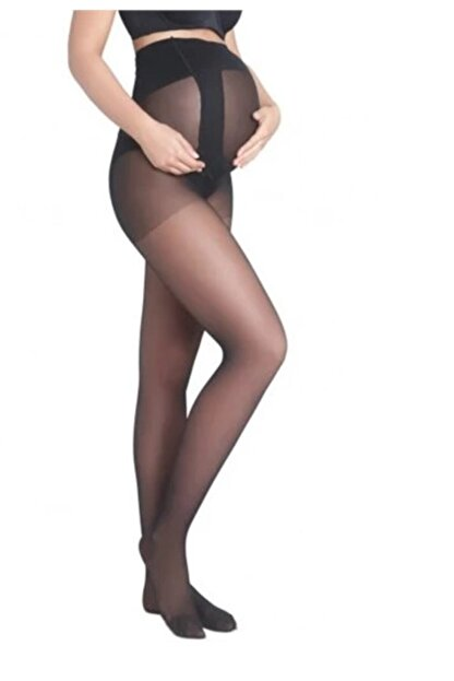 Penti Kadın Siyah 9 Ay 10 Gün Külotlu Hamile Çorabı