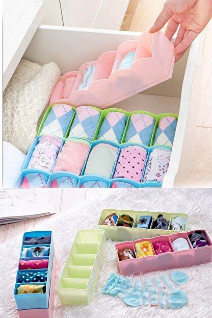 Helen's Home 4 Adet 5 Gözlü Çekmece Içi Çorap Düzenleyici Ev.03340.00