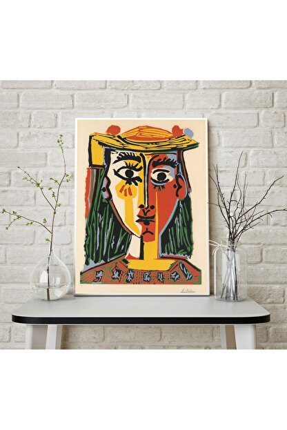 Vona Vintage Pablo Picasso Head Of A Woman In A Hat Art Poster