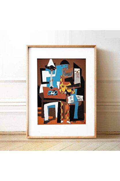 Vona Vintage Pablo Picasso Three Musicians Poster
