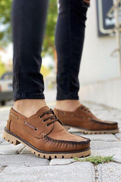 BIG KING Bağcıklı Taba Klasik Ayakkabı