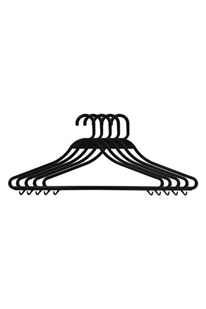 Entude 24 Adet Plastik Elbise Askısı Siyah,kuru Temizleme Kıyafet Askısı
