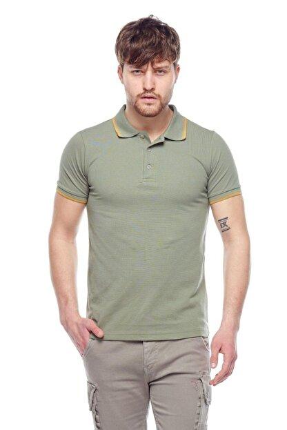 Tena Moda Erkek Açık Haki Polo Yaka Tişört