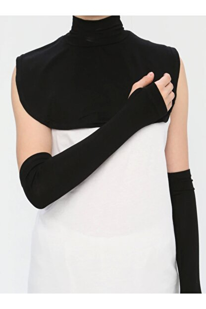 Ecardin Yakalık&kolluk Ikili Set- Siyah -