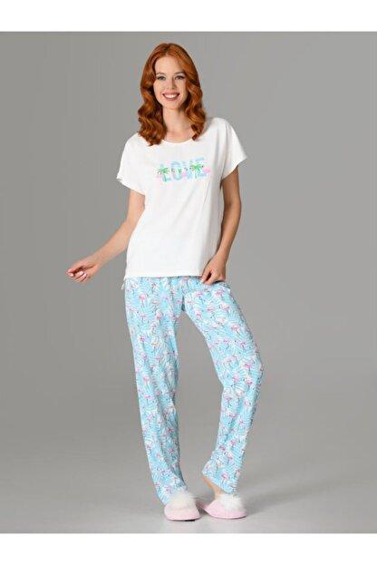 Nbb Love Flamingo Kadın Pijama Takımı 66728