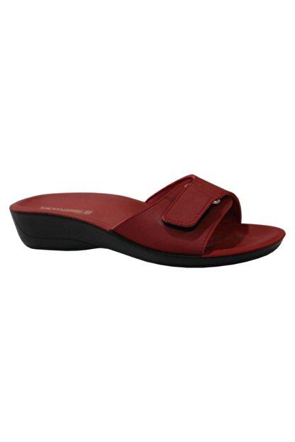 Ceyo Siena-4 Kırmızı Ortapedik Bayan Terlik & Sandalet