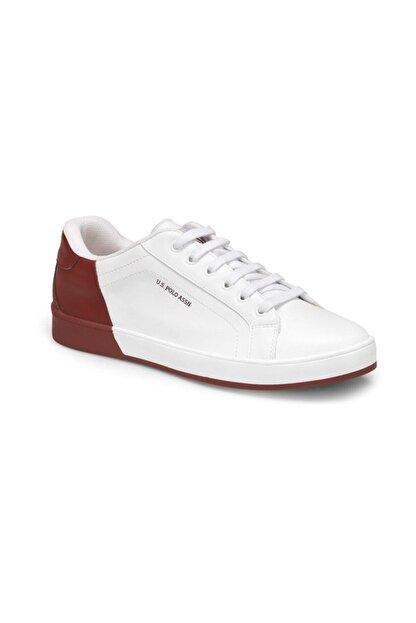 US Polo Assn Beyaz Bordo Erkek Sneaker 000000000100357154