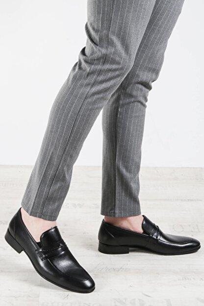 Fast Step Hakiki Deri Siyah Erkek Klasik Ayakkabı 867ma94